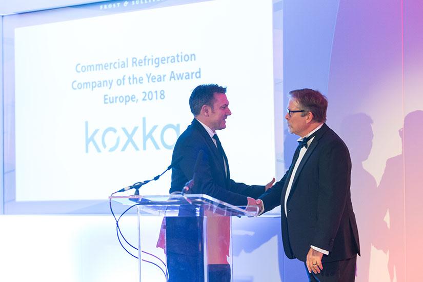 Koxka recibe el premio a la mejor empresa europea de Refrigeración Comercial.